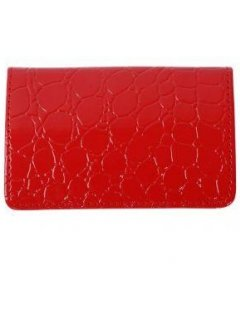GW048A RED CROC PRINT BUSINESS CARD HOLDER Please Click the image for more information.
