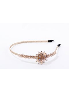 HA0236A CHAMPAGNE FLORAL HEADBAND Please Click the image for more information.