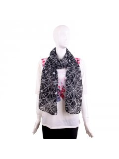 S204A BLACK SCARF WITH FILIGREE DESIGN Please Click the image for more information.
