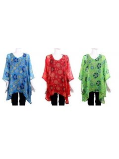 K037 KAFTAN SET  CIRCLE PRINTBLUE RED  GREEN Please Click the image for more information.