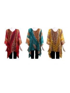 K039 SUMMER KAFTAN SET  ANIMAL PRINT PATTERNONE RED ONE GREEN ONE GOLD Please Click the image for more information.