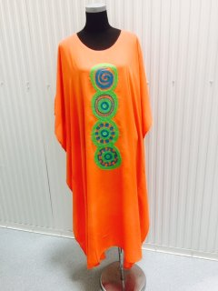 K061A ORANGE MAXI WITH EMBROIDERED CENTRE PANEL3PCS PER PACK  FREESIZE Please Click the image for more information.
