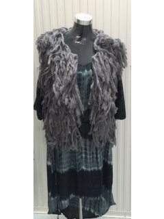 P117B GREY WOOLEN SLEEVELESS JACKET  60CM Please Click the image for more information.