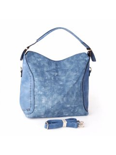 H0737B SOFT BLUE HANDBAG WITH LONG OR SHORT STRAPS Please Click the image for more information.