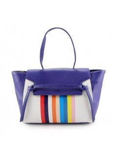 H0757A PURPLE HANDBAG WITH RAINBOW FRONT PANEL Please Click the image for more information.