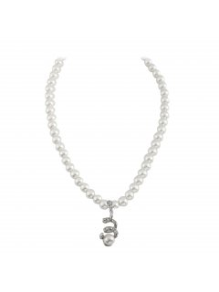 10802 CREAM PEARL NECKLACE WITH DIAMONTE DROPALSO AVAILABLE IN BLACK OR MOCHA Please Click the image for more information.