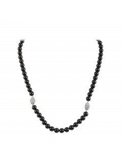 10809a BLACK PEARL NECKLACE WITH DIAMONTE MAGNETIC CLASPMATCHING BRACELET IS INCLUDED Please Click the image for more information.