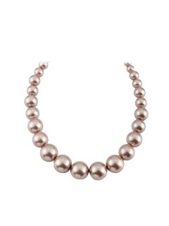 10811B MOCHA GRADUATED PEARL NECKLCE Please Click the image for more information.