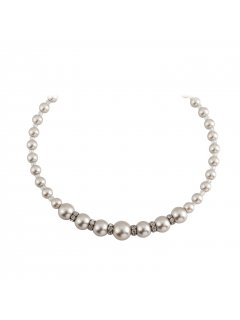 10814B CHAMPAGNE GRADUATED PEARL WITH DIAMONTE INSERTS AND MAGNETIC CLASP  20 LONG Please Click the image for more information.
