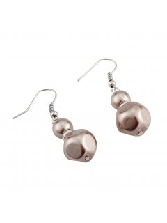 E0655B MOCHA PEARL DROP EARRING Please Click the image for more information.