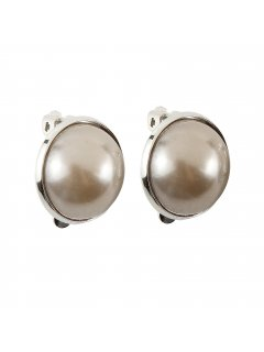 E0654B MOCHA PEARL CLIP ON EARRING  LARGE Please Click the image for more information.