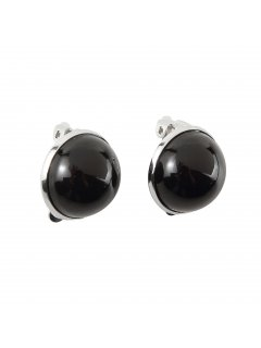 E0653A BLACK CLIP ON PEARL EARRING  MEDIUM Please Click the image for more information.