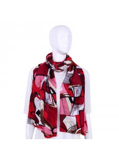 S249 MULTI COLOURED SCARF IN PINKREDWHITE TONES Please Click the image for more information.
