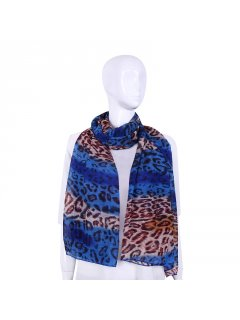 S244A BLUE ANIMAL PRINT SCARF Please Click the image for more information.