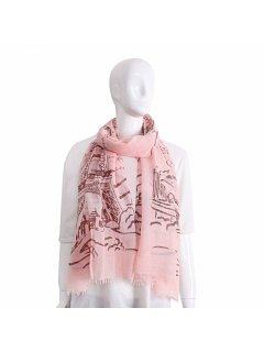S225A PINK FRENCH SCARF Please Click the image for more information.