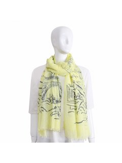 S225B LEMON FRENCH SCARF Please Click the image for more information.