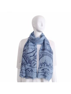 S225 BLUE FRENCH SCARF Please Click the image for more information.