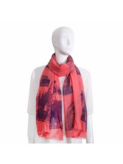 S224B CORAL LONDON SCARF Please Click the image for more information.