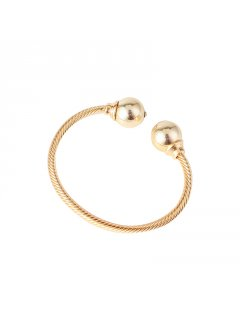 BB0221 GOLD BANGLE WITH BALL ENDS Please Click the image for more information.