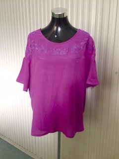 K069  LADIES MAGENTA TOP WITH EMBROIDERED BODICEAVAILABLE IN PACK OF 4 MLXLXXL Please Click the image for more information.
