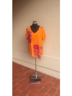 K065A ORANGE LADIES TOP Please Click the image for more information.