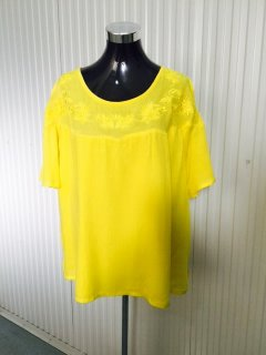 K069D YELLOW LADIES TOP WITH EMBROIDERED BODICEAVAILABLE IN PACK OF 4  MLXLXXL Please Click the image for more information.