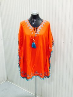 K078A CORALPONCHO WITH BLUE EMBROIDERED EDGEPACK OF 3  MLXL Please Click the image for more information.