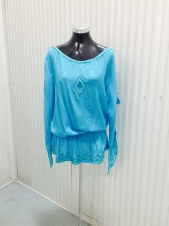 K094C BLUE EMBROIDERED SUMMER TOPPACK OF 3  SMLALSO AVAILABLE IN XL Please Click the image for more information.