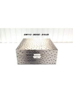 GW113A BEIGE CROC PRINT JEWELLERY BOX Please Click the image for more information.