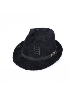 HA0248 BLACK CROCHET HAT Please Click the image for more information.