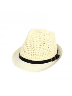 HA0251A WHITE HAT WITH BELT TRIM Please Click the image for more information.