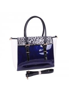 H0764A BLUE BUSINESS WOMANS LEATHER HANDBAG Please Click the image for more information.