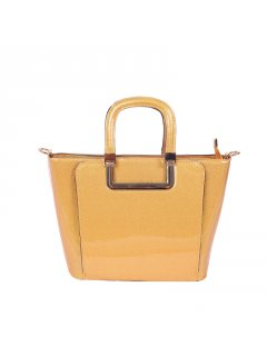 H0765 MUSTARD PATENT LEATHER HANDBAG Please Click the image for more information.
