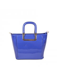 H0765A BLUE PATENT LEATHER HANDBAG Please Click the image for more information.