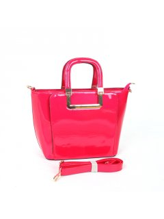 H0765B ROSE PINK PATENT LEATHER HANDBAG Please Click the image for more information.