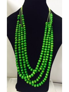 10833C GREEN MULTI STRAND WOODEN BEADS Please Click the image for more information.