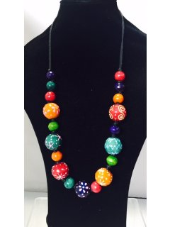 10838 MULTI COLOURED WOODEN BEADS Please Click the image for more information.