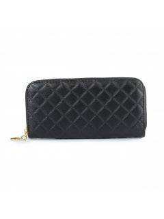 H0817 BLACK QUILTED LADIES WALLET Please Click the image for more information.