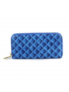 H0817A BLUE QUILTED LADIES WALLET Please Click the image for more information.