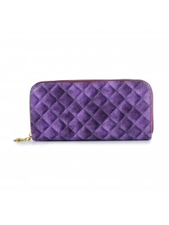 H0817B PURPLE QUILTED LADIES WALLET Please Click the image for more information.