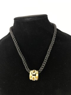 10111 LADIES ROPE NECKLACE WITH GOLD DROP Please Click the image for more information.