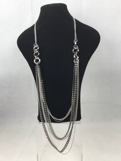 5354A SILVERBLACK TRIPLE CHAIN NECKLACE Please Click the image for more information.