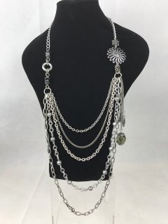 5372 SILVER MULTI CHAIN NECKLACE Please Click the image for more information.