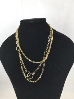 7061 GOLD LADIES 3 CHAIN NECKLACE Please Click the image for more information.