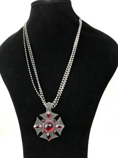 5772A SILVER LADIES NECKLACE WITH RED STONES Please Click the image for more information.