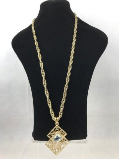 5357 GOLD GOLD LADIES NECKLACE WITH FILIGREE DROP Please Click the image for more information.