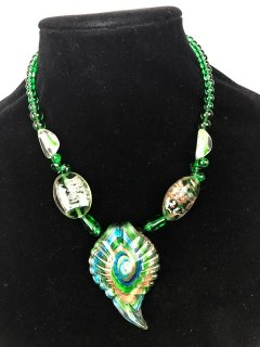 10057 GREEN LADIES GLASS CHOKER Please Click the image for more information.