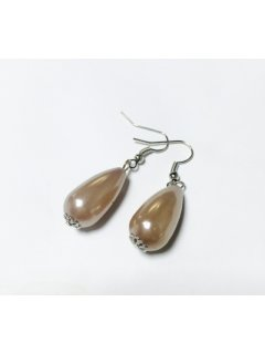 E0659B CHAMPAGNE PEAR DROP EARRINGS Please Click the image for more information.