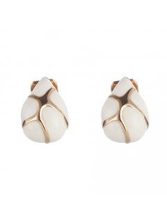 E0676A WHITE  GOLD CLIP ON EARRINGS Please Click the image for more information.