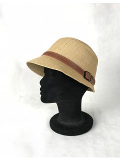 HA0279A THIS IS A GORGEOUS STRAW NARROW BRIMMED HAT WITH A BROWN BELTED FEATURE THIS STYLE IS AVAILABLE IN 6 COLOURS RED PINK KHAKI LIME AND TAUPE. Please Click the image for more information.